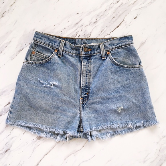 Levi's Pants - Vintage Levi's Distressed High-Waisted Shorts